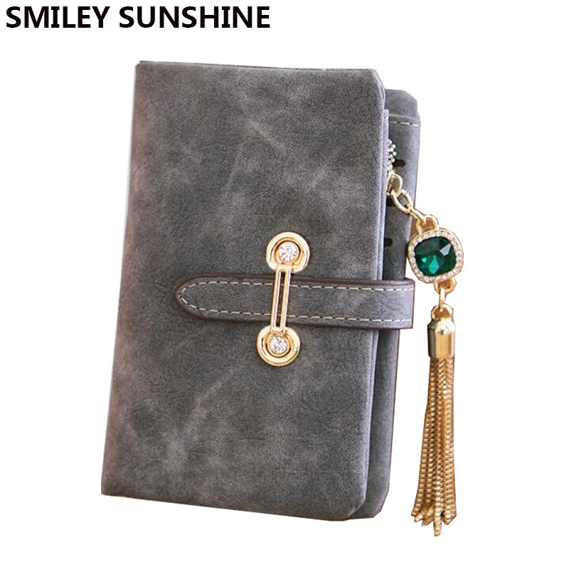 Nubuck Leather Women Wallets Female Fashion Zipper Small Wallet Women Short Coin Purse Holders Retro Wallet and Purses portfolio women wallets drawstring nubuck leather zipper wallet women short purse retro tassels clutch