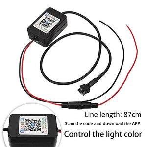 Image 2 - 2Pcs RGB Circular Projector Led Devil Eye Demon Eye Lamp Universal For Car projector headlight retrofit  App Remote Control