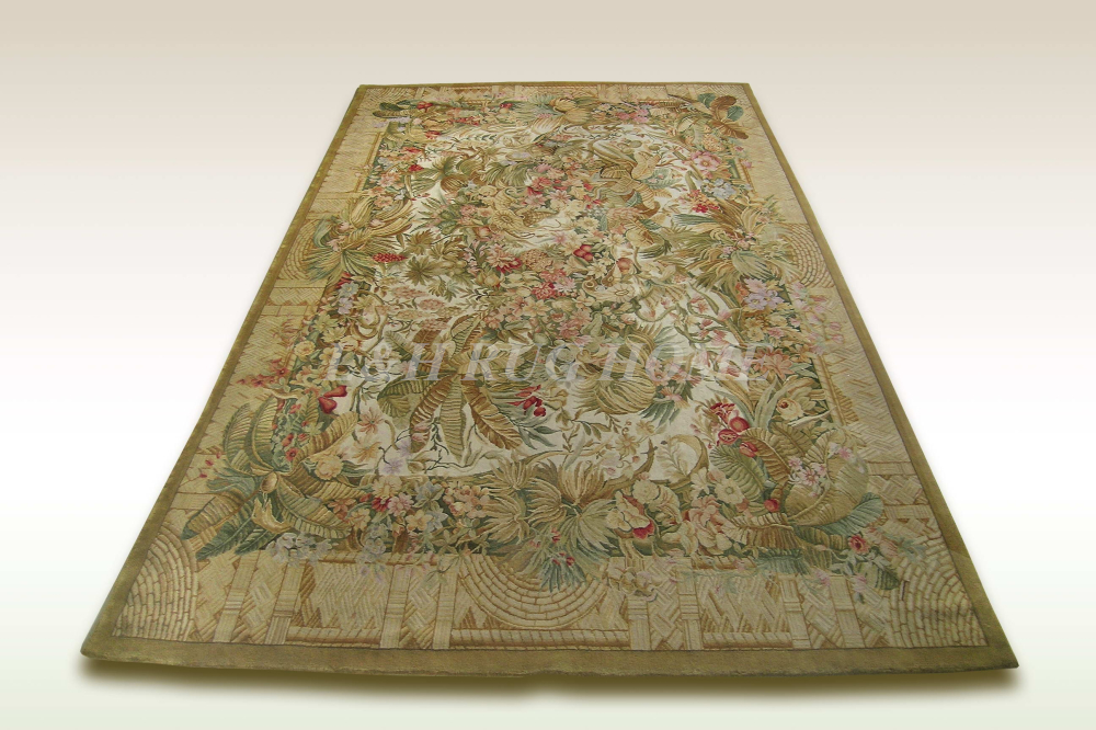 Free shipping 10'x14'  90 Line Savonnerie rug hand knotted woolen - Home Textile