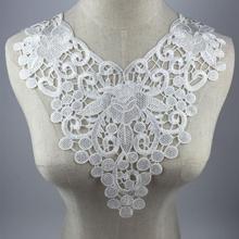 50pcs/lot Venise Lace Fabric Dress Applique Blouse Sewing Trims DIY Neckline Collar Costume Decoration Accessories недорого