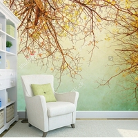 Custom Natural Scenery Wallpaper Branches Woods Retro Photo Wall Painting For The Living Room Bedroom Wall