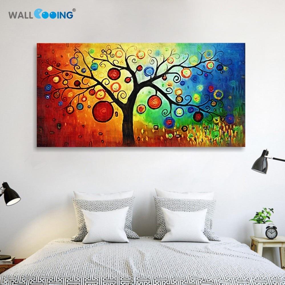 rankomis dažytos šiuolaikiškos abstrakčios drobės sienų tapyba - Namų dekoras