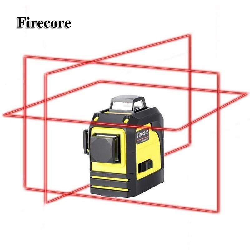 Firecore 12 Linee 3D 93 t Laser Livello Self-Leveling 360 Orizzontale E Verticale Croce Super Potente Laser Rosso linea di fascio di