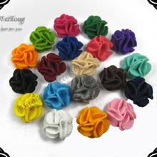Free shipping 50pcs/lot 4CM New felt flowers Non-woven can order mixed color