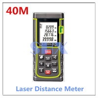 Digital Laser Distance Meter 40m 131ft Laser Rangefinder Tape Laser Range Finder Measure Distance Area Volume