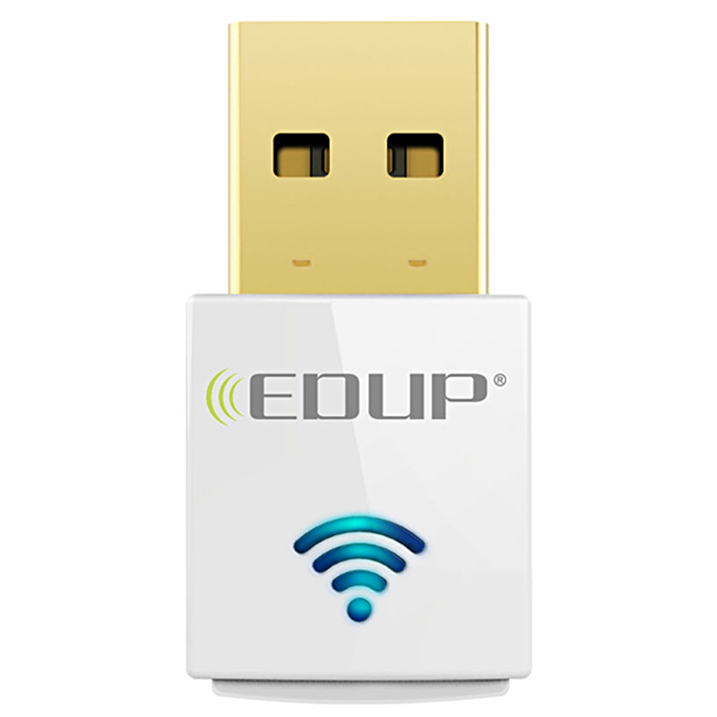 EDUP WiFi Receiver 600Mbps Dual Band Mini 2.4/5Ghz USB WiFi Adapter USB Network Card AC600 802.11ac Wireless Adapter