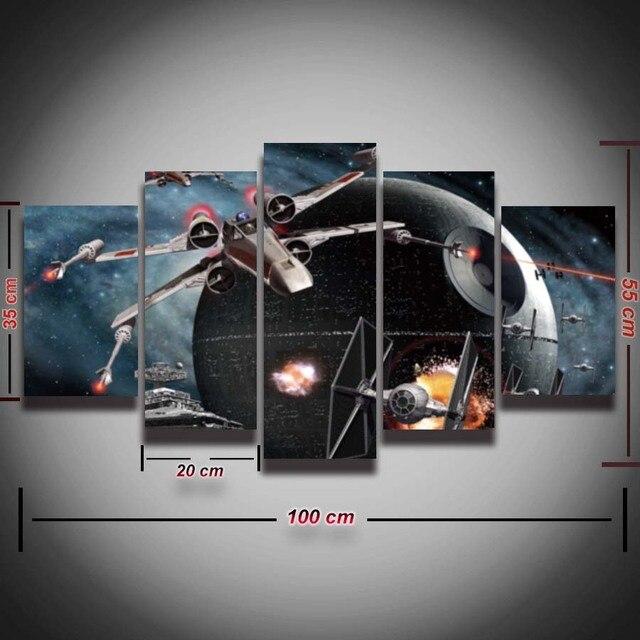 5 Panel Płótno Wall Art Star Wars Modułowa Obraz Nowoczesny