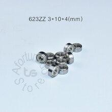 623ZZ 3*10*4(mm) 10pieces bearing Metal sealed free shipping ABEC-5 chrome steel miniature bearings hardware Transmission Parts