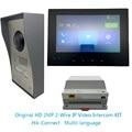 Multi-taal Hik originele HD 2MP 2-Draad IP Video Intercom KIT Bundel, IP deurbel, dooe telefoon, waterdicht