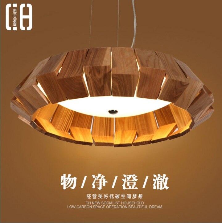 Pendentif en bois/Design moderne/suspension fil 100-120 cm