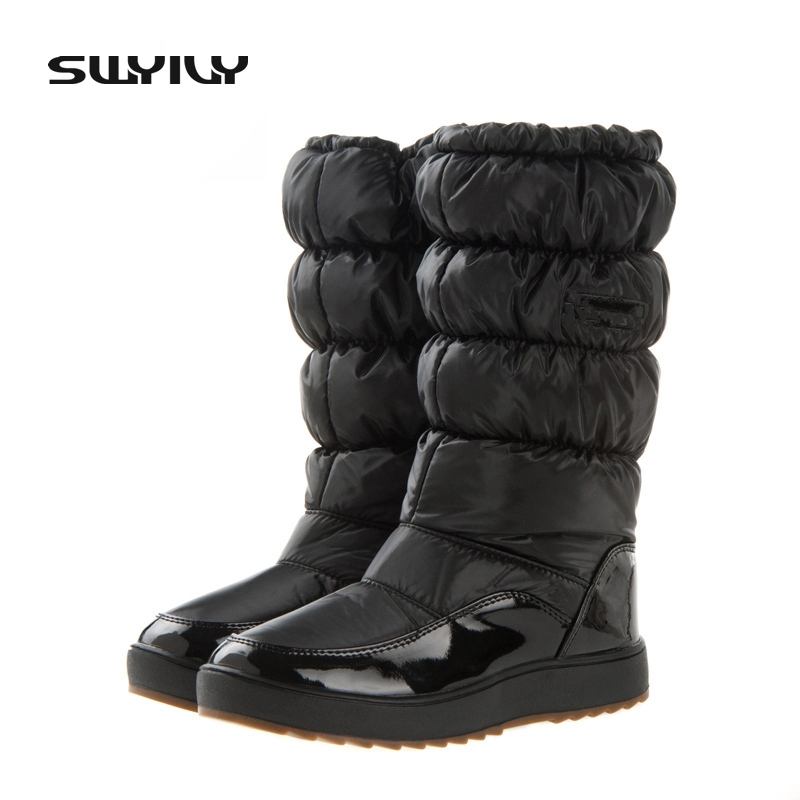 Global Hot Sale 100,000 Pairs Winter Snow Boots New 2017 Brand Waterproof Shoes Woman,Platform Boots Plush Big Plus Size 41 image