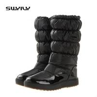 Venta caliente mundial 100,000 pairs invierno Botas de nieve Nuevo 2017 marca impermeable Zapatos mujer, plataforma Botas felpa grande más el tamaño 41