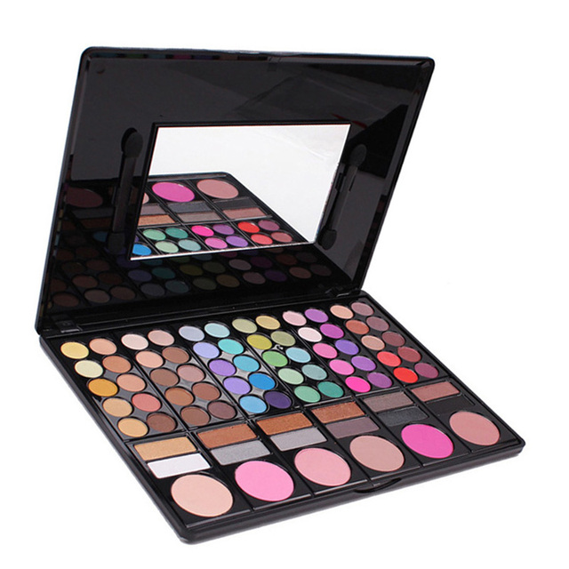 NEW,78 Colors Makeup Set 78 Color Eyeshadow Palette Face Blusher Palette With High Lighting Eye Shadow Makeup Palette Maquillaje