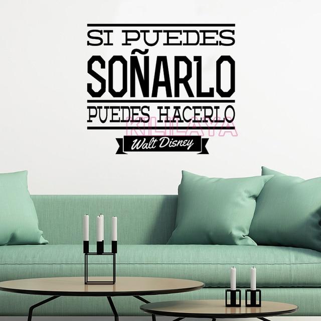 Spanisch Vinyl Wandaufkleber Inspirierend Zitat Fur Wohnzimmer Und