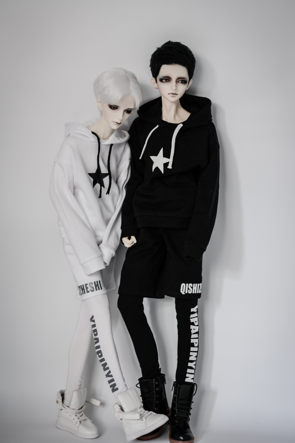 1/3 1/4 Uncle Point BJD Doll Printing Street Style Sport Suit For 1/3 1/4 Uncle BJD SD DD Doll Accessories