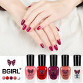 1PCS Bgirl 8ML Sexy Sweet Color Long Lasting Manicure Lacquer Soak-off Nail Glue Pregnant Women Peel Off Non-toxic Nail Polish