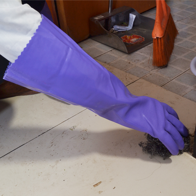 Darmowa wysyłka 3 pary 40 CM Rękawice ochronne z PVC z flokowaną - Zestawy narzędzi - Zdjęcie 3