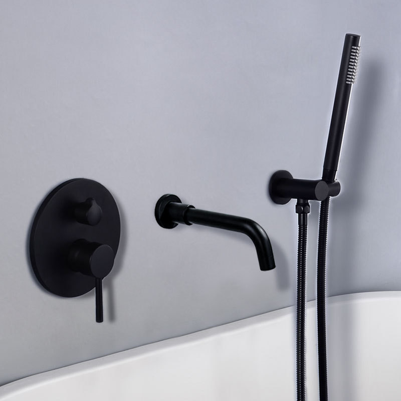 Bathtub Faucet Brass Bathroom Bathtub Mixer Tap Hot and Cold Bath Shower Faucets Wall Mounted Black Bathtub Shower Faucet SetBathtub Faucet Brass Bathroom Bathtub Mixer Tap Hot and Cold Bath Shower Faucets Wall Mounted Black Bathtub Shower Faucet Set