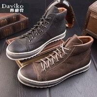 Высокая Мужская обувь в британском стиле, кожаная обувь в стиле ретро, мужская повседневная обувь, мужская обувь
