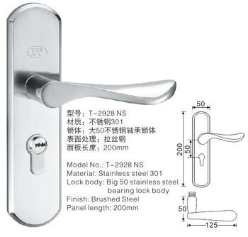 [Xi Ya Hardware] stainless steel door locks mechanical locks door handle lock Zhongshan factory