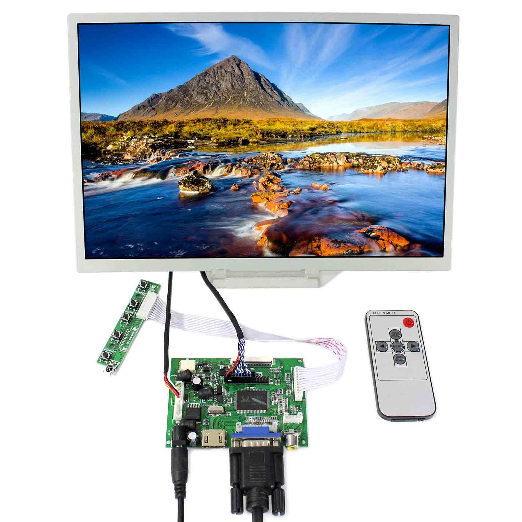 HDMI+VGA+2AV LCD Controller Board With 12.1inch 1280x800 LQ121K1LG52 LCD Screen vga hdmi lcd controller board for lp156whu tpb1 lp156whu tpa1 lp156whu tpbh lp156whu tpd1 15 6 inch edp 30 pins 1 lane 1366x768