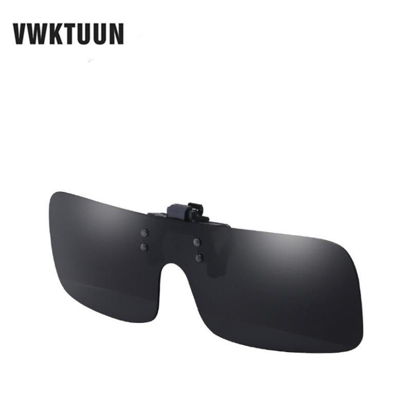 266b068ac0 VWKTUUN Polarized Sun Glasses Clip On Sunglasses Driving Night Vision  Lenses Eyeglasses Integrated Shades For Women Men Eyewear-in Sunglasses  from Apparel ...