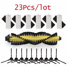 1 * מברשת + 6 * HEPA מסנן + 6 * ספוג + 10 * צד מברשת עבור ILIFE רובוט שואב אבק חלקי פולאריס chuwi ilife A4 A4s T4 X432 X430 X431