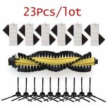 Pièces détachées pour aspirateur Robot ILIFE polaris chuwi ilife A4 A4s T4 X432 X430 X431, 1 x brosse + 6 x filtre HEPA + 6 x éponge + 10 x brosse latérale pour aspirateur Robot ILIFE