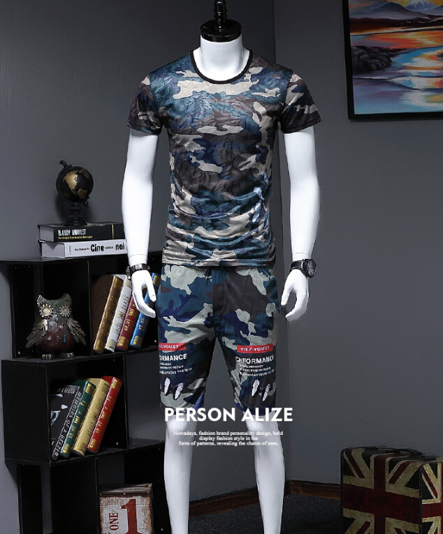 Short sleeve tracksuit man   Chinese Style Summer Men Breathable Casual Beach Set-in Men's Sets from Men's Clothing    1