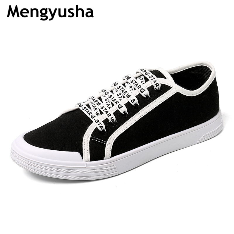 Mengyusha/2018 Spring  Casual Shoes Mens Canvas Shoes For Men Lace-Up Brand Fashion Flat Shoes