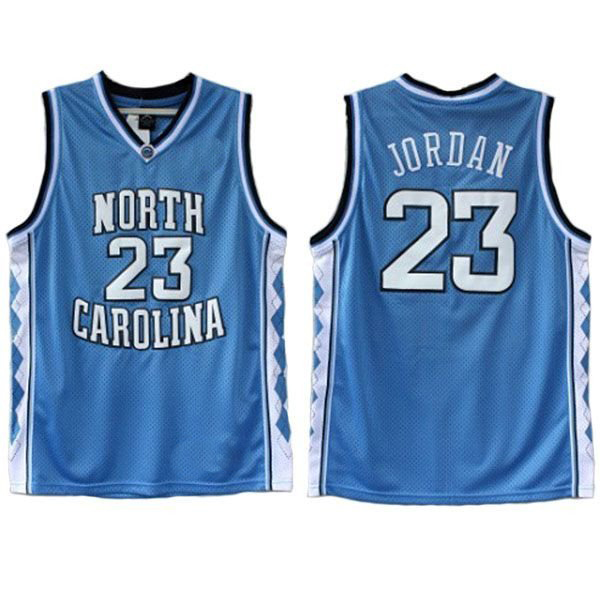 8ba988366b9b Blue North Carolina UNC Tar Heels Michael Jordan  23 Basketball Throwback  Jersey Double Stiched High Quanlity Polyester