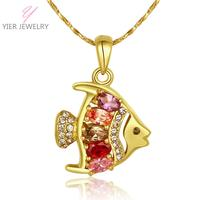 YIERLOVE New Fashion Nickle Free Antiallergic Gold color Necklace pendants  N755