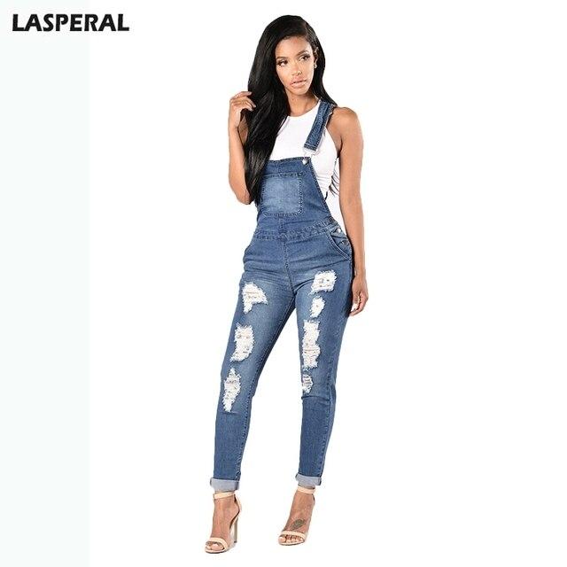 best website f8ae9 acc00 US $18.13 |LASPERAL 2018 Denim Tute Le Donne di Modo Strappato Hole Lunga  Tuta Jeans Tute Casual Femminili Lavato Scava Fuori Pagliaccetti in  LASPERAL ...