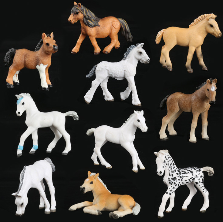 2019 NEW 10 Stlyle Simulated Pony Horse Model Solid Emulation Action Figure Learning Educational Kids Toys For Boys Children .