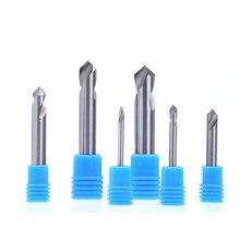 HRC55 3 мм-14 мм 90 градусов точечное сверло бит для подвергая механической обработке отверстие сверление, снятие фаски инструменты Вольфрам карбида Сталь для алюминиевый процесс