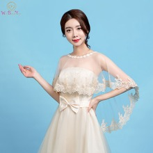 Walk Beside You Champagne Wedding Boleros Lace Bridal Wraps Women Shrug  Etole Mariage Cape Party Cloak Chaquetas Mujer 2019 New