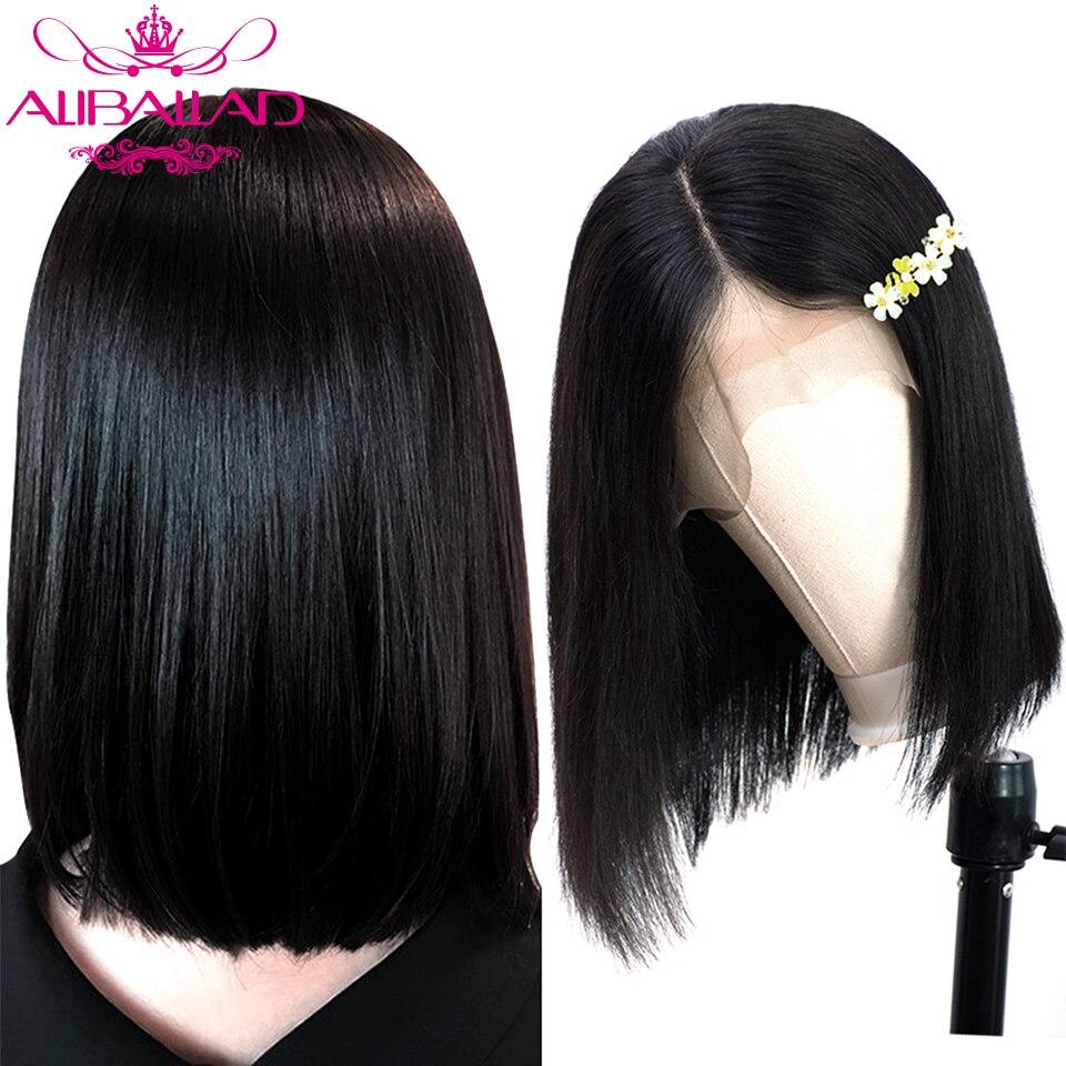Straight Bob Lace Front Human Hair Wigs For Black Women Glueless Brazilian Short Bob Wigs Human