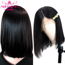 Straight Bob Lace Front Human Hair Wigs For Black Women Glueless Brazilian Short Bob Wigs Human Remy Hair Pre Plucked ALIBALLAD(China)