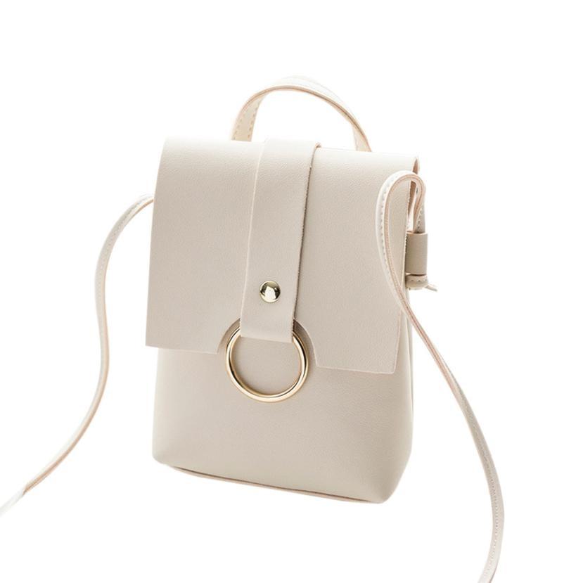 White Classic Cover Ring Hasp Crossbody Handbag Small Sequined Candy Color Handbags Women Clutches Purse Shoulder Strap Bags4#YL handbag