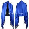 Продвижение Новый Синий Леди Хлопчатобумажных Классический Сплошной Цвет Пашмины Моды Украл Палантин Глушитель 17 Цвета 190x70 см