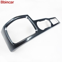 Bbincar ABS Carbon Fiber Paint Inner Middle Water Cup Hold Cover Trim For Ford Focus 2009 2010 2011 LHD
