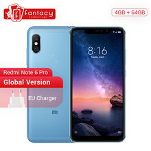 "Global Version Xiaomi Redmi Note 6 Pro 4GB 64GB 6.26"" 19:9 Full Screen Dual Camera Smartphone Snapdragon Octa Core Moble Phone(China)"