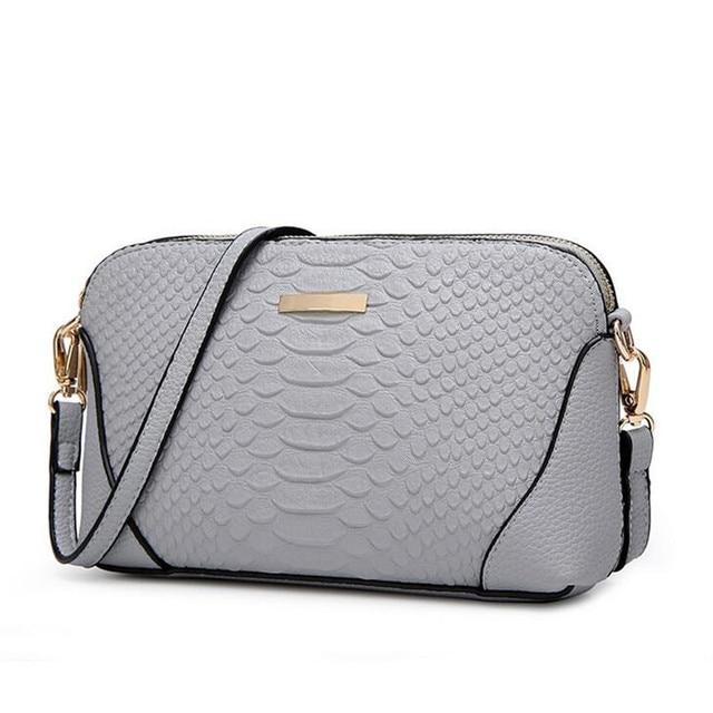 6139eb41c79 BARHEE Design Crocodile Women Handbag PU Leather Ladies Hand Bag Female Messenger  Bags Crossbody Shell Pouch Small Purse Beige