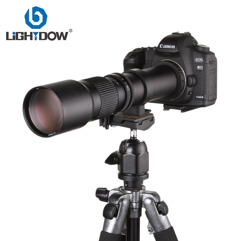 Lightdow 500mm F8.0 Lensa Telefoto Lensa Manual + T2-AI T Mount untuk Nikon D5000 D7000 D7100 D800 D90 DSLR Camera