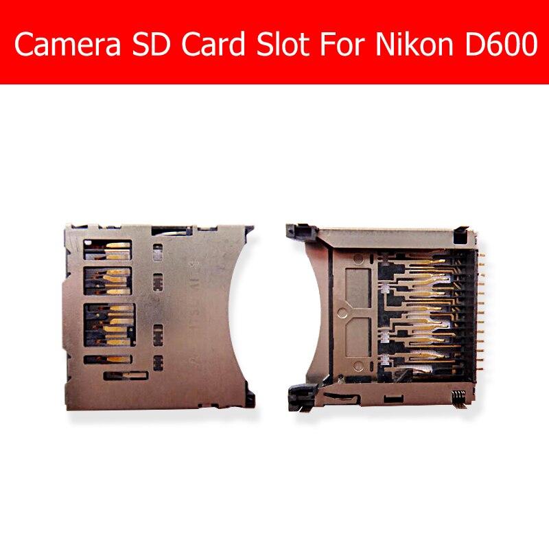 100% натуральная Новый Камера слот для карты SD для Nikon D600 D610 чтения карт памяти лоток Разъем Замена Ремонт в наличии хороший проверено
