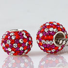 Hot sale Cubic zirconia DIY jewelry Original 925 sterling silver set beads Fits for Pandora Bracelets SW3053