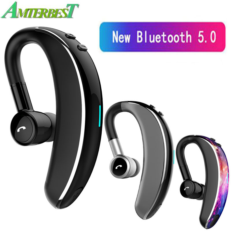 Amterbest V7 Bluetooth 5 0 Headset Wireless Earphone Headphone With Mic Handsfree Driving Sport For Ios Android Phones Bluetooth Earphones Headphones Aliexpress