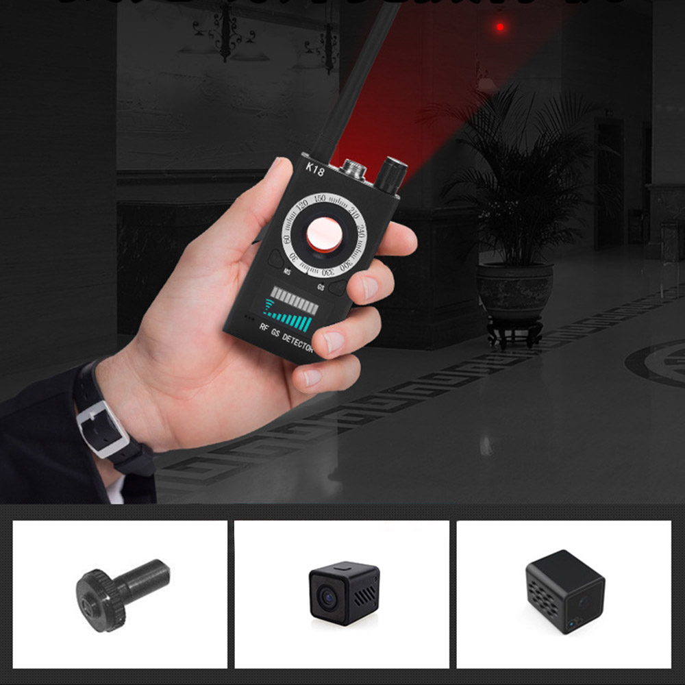 K18 Multi-function Detector Camera GSM Audio Bug Finder GPS Signal Lens RF  Magnetic Tracker Detect WIFI Finder