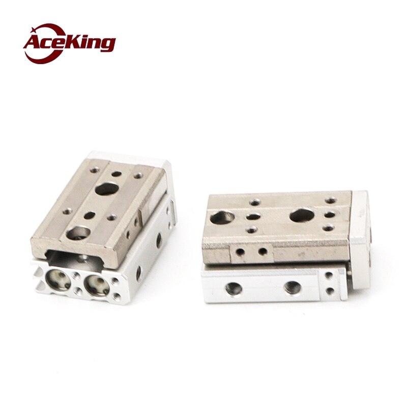 SMC tipo cilindro com trilho de guia duplo eixo precisão pneumática slide tabela HLQ/mxq6/8/12- 10/20/30/40/50/75as-at-bs-bt