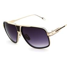 Classic Fashion women Men Square sunglasses Brand Designer Rayed Gold Sunglasses Celebrity Brad Pitt Top Fun Sun glasses